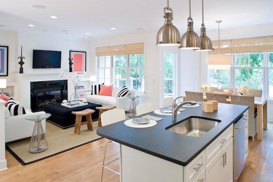 kitchen living room open floor plan minimalist