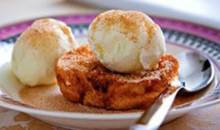 Rabanada com sorvete