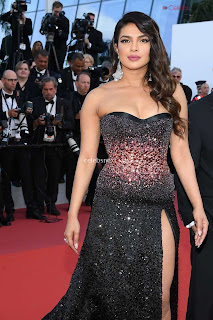 Priyanka Chopra Rocks the Rocketman Screening Cannes ina Sizzling Dark Gown .XYZ Exclusive 03
