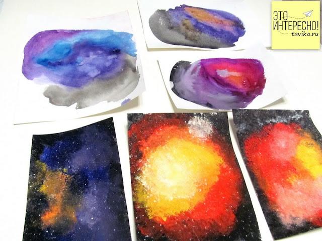 детская поделка на День космонавтики