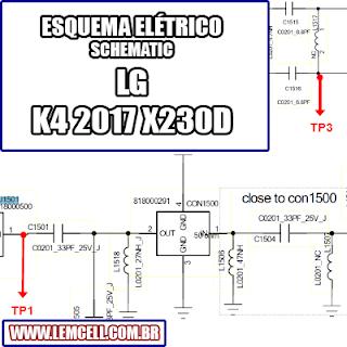 Esquema Elétrico Smartphone LG K4 2017 X230DS Manual de Serviço   Service Manual schematic Diagram Cell Phone Smartphone Celular LG K4 2017 X230DS      Esquematico Smartphone Celular LG K4 2017 X230DS