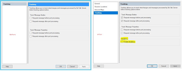 BizTalk feature Pack1 enable Application Insight receive port