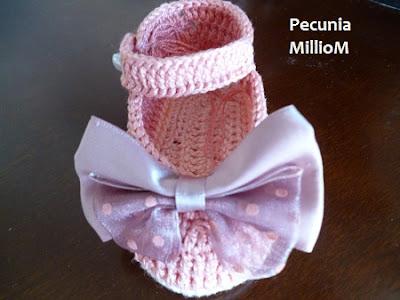 DIY - sapatinhos de Crochê para Meninas Por Pecunia MillioM