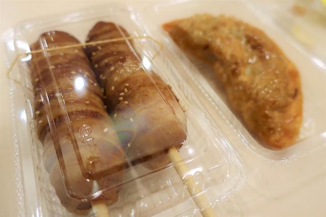 名阪関ドライブイン 肉巻きおにぎり 津ギョーザ