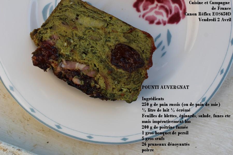 Cuisine et campagne de france pounti auvergnat for Caillou va a la piscine en francais