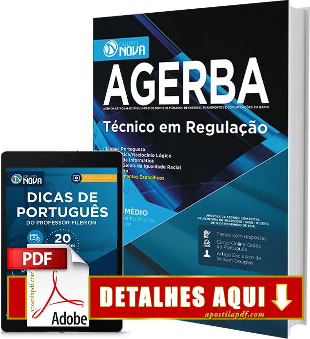 Apostila AGERBA 2016 Técnico em Regulação PDF Impressa