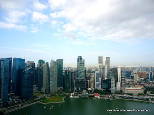view of Singapore from Sky on 57