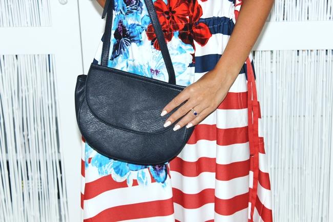 DESIGUAL striped dress.Stradivarius navy purse.Desigual haljina.