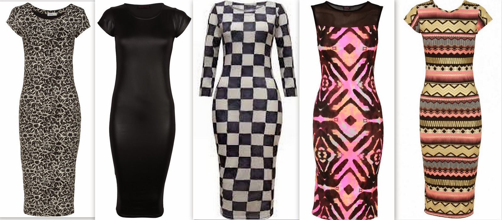 fitted midi dresses, black midi dress, printed midi dress, midi dress with cup sleeves,