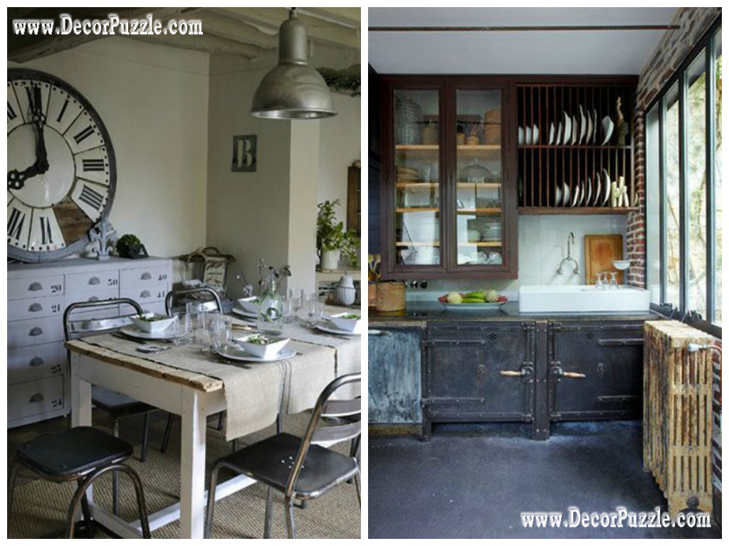 Industrial style kitchen decor and furniture - Top secrets