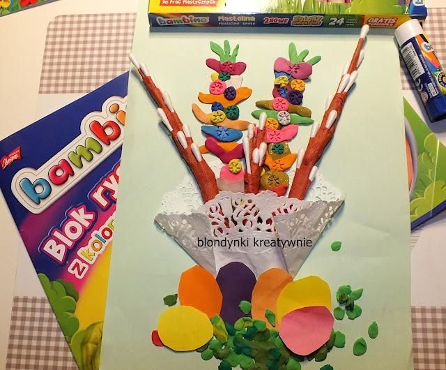 Kolorowy koszyczek Wielkanocny