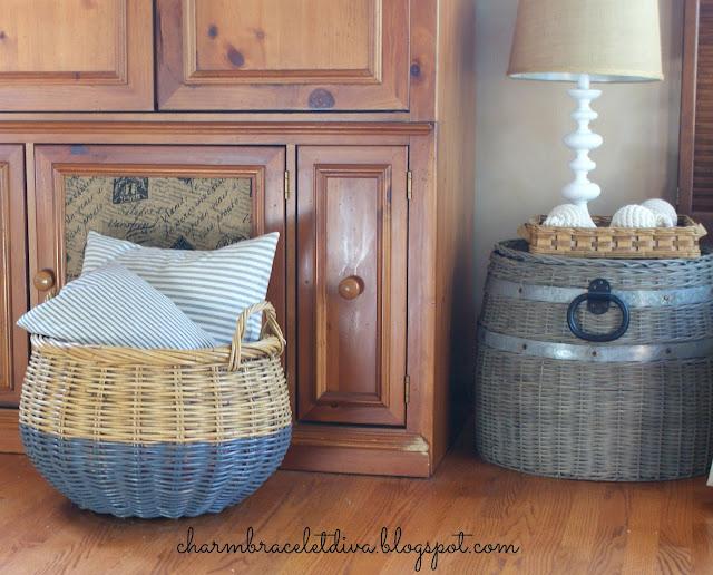 Painted basket