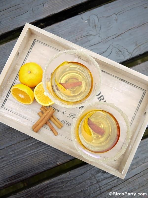 Muscat & Tangerine Mulled Wine Recipe - BirdsParty.com