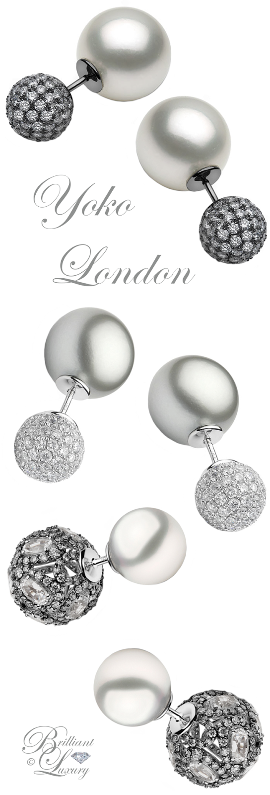 Brilliant Luxury ♦ Yoko London Duet Earrings