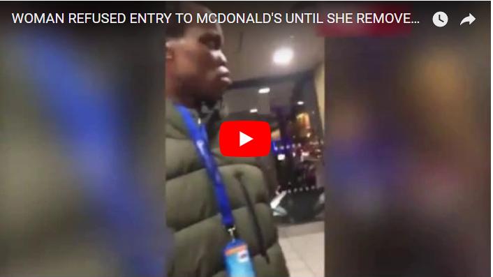 ISLAMPHOBIA! Paksa Muslimah Lepas Jilbab, Setelah Video VIRAL, McDonald Akhirnya Minta Maaf