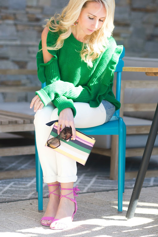 The Penny Parlor: Spring Style: Pink + Green