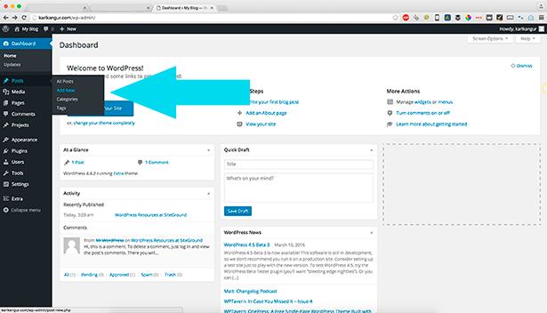 Crear una entrada en Wordpress