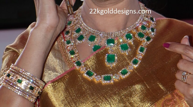 Square Emerald Diamond Jewellery