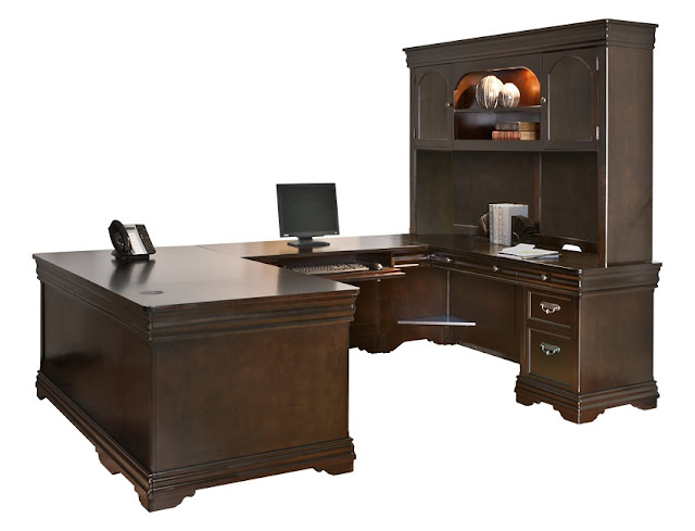 best buy solid wood home office desk with right return and hutch