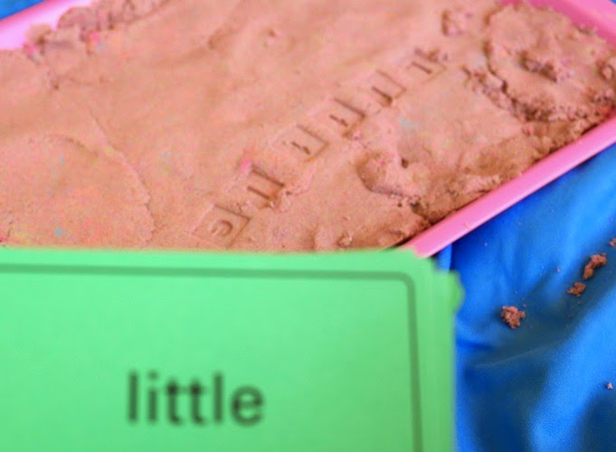 hands-on spelling activity with stamps