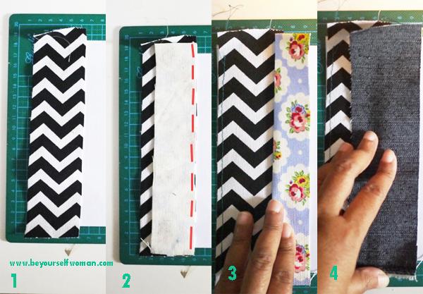 tutorial menyambung kain perca memanjang