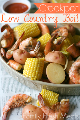 CrockPot Low Country Boil from Family Fresh Meals featured on SlowCookerFromScratch.com