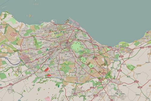 Edinburgh region map
