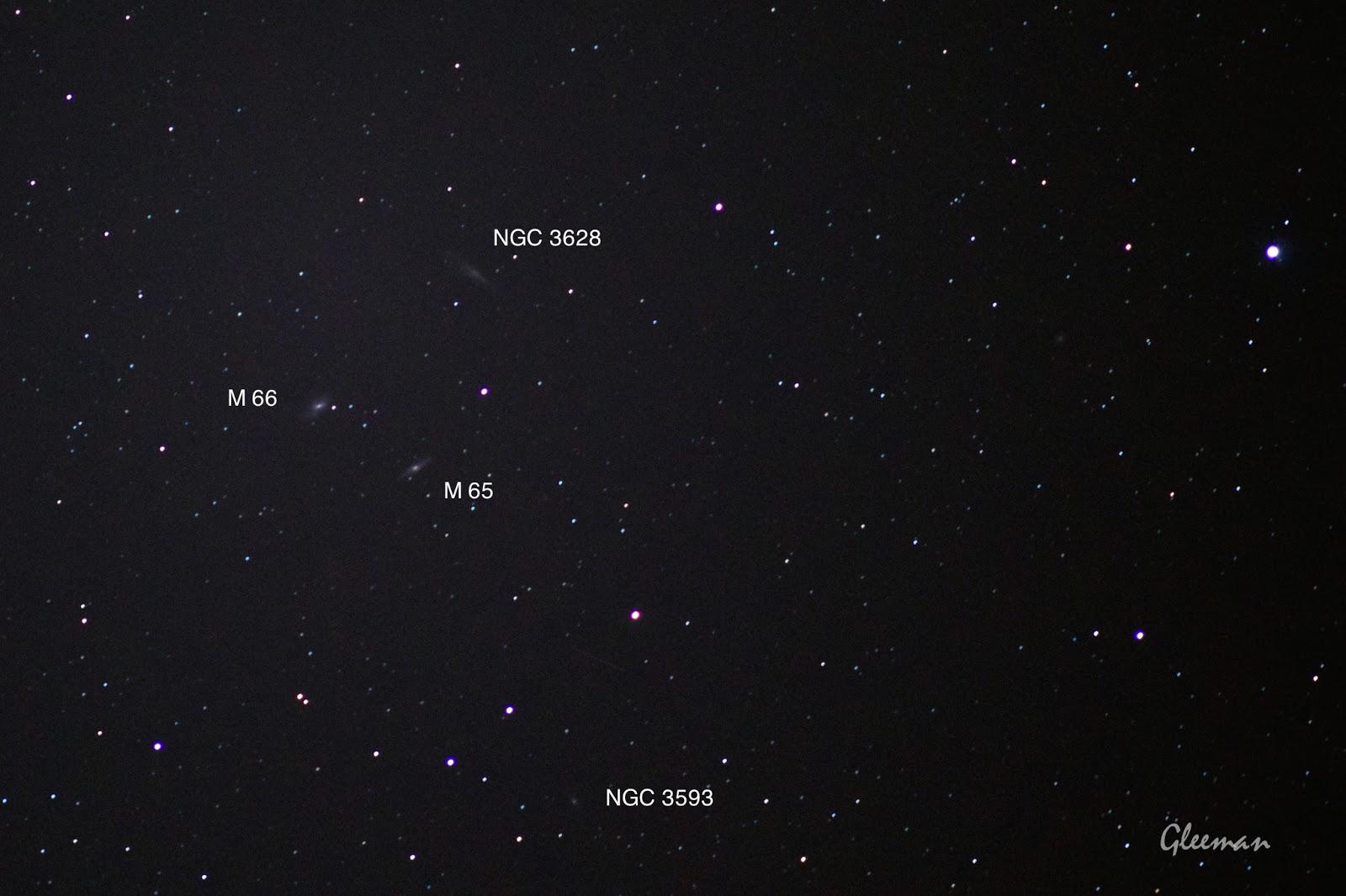 NGC 3628, M65,M66, NGC 3593/ Pentax  K5 + Pentax O-GPS1 + DA*200