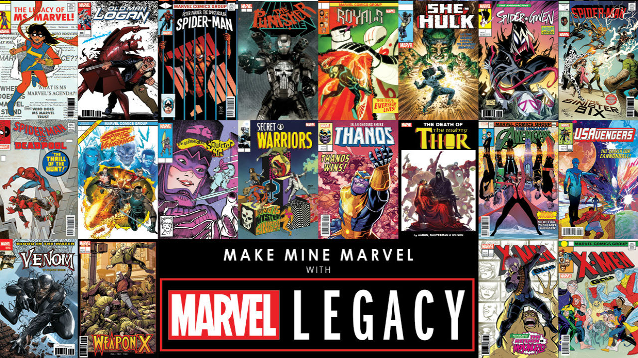 comic frontline  marvel legacy lenticular homage covers