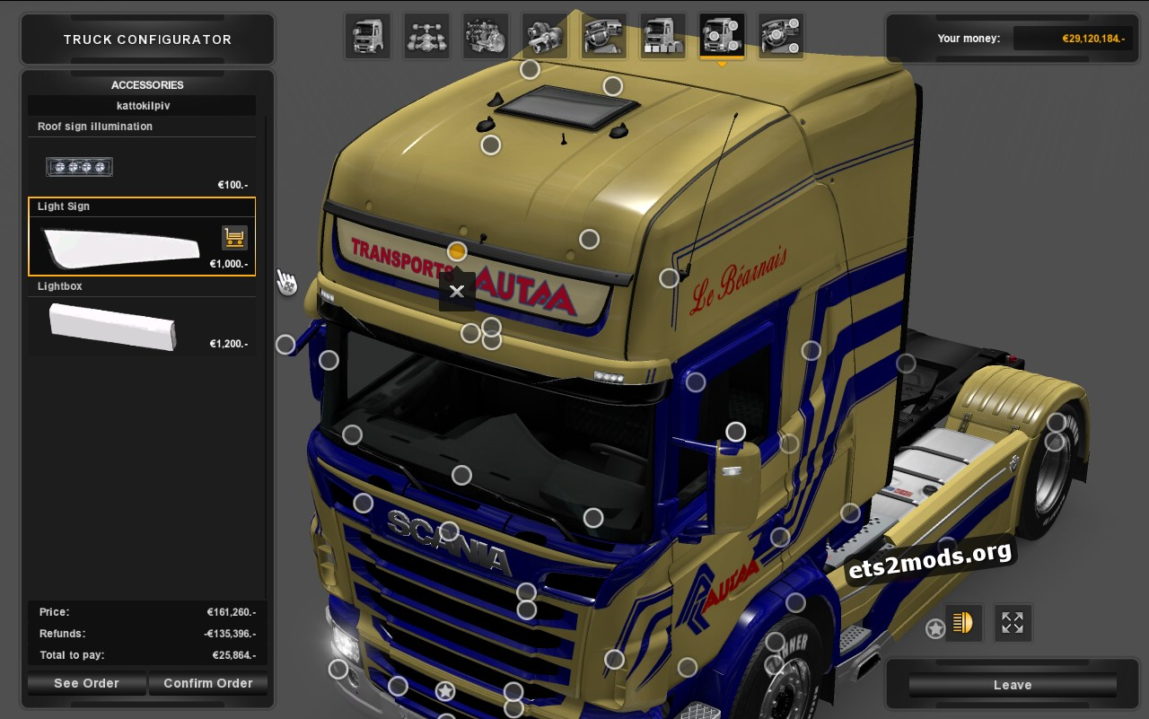 Transports Autaa Skin for Scania RJL