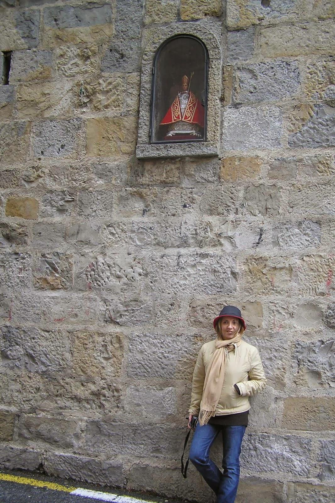 Yolanda con San Fermín.