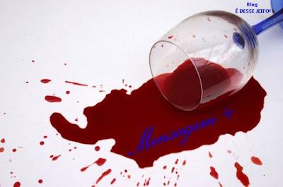Imagem de uma taça caída e o vinho derramado. Representando o Sangue dos santos de DEUS que foram mutilados, e que serão vingados