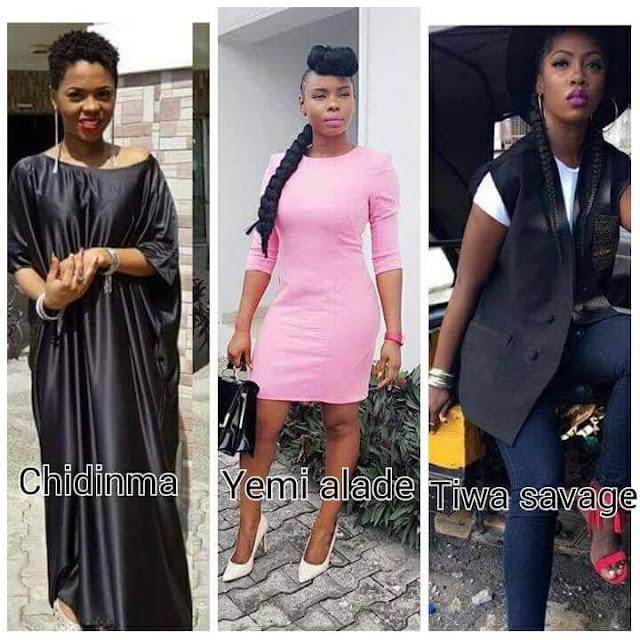 Chidinma, Yemi Alade, Tiwa Savage