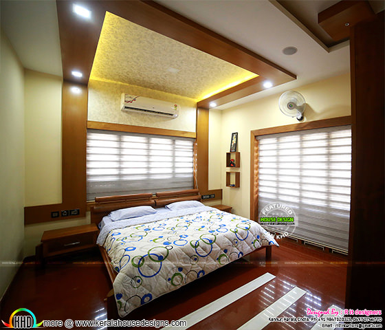 Furnished bedroom interior