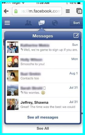 how to send facebook messages without the messenger app