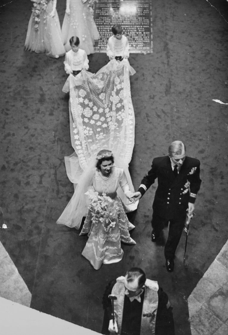 The wedding in 1947 of Princess Elizabeth and the Duke of Edinburgh. Image: Bert Hardy, Picture Post / Getty