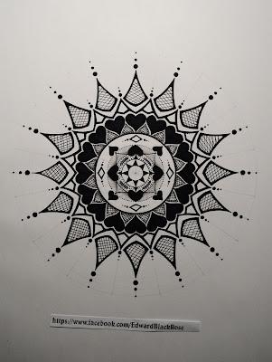 mandala geometric drawing