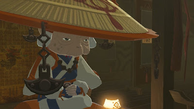 impa close up old lady legend of zelda breath of the wild screenshot