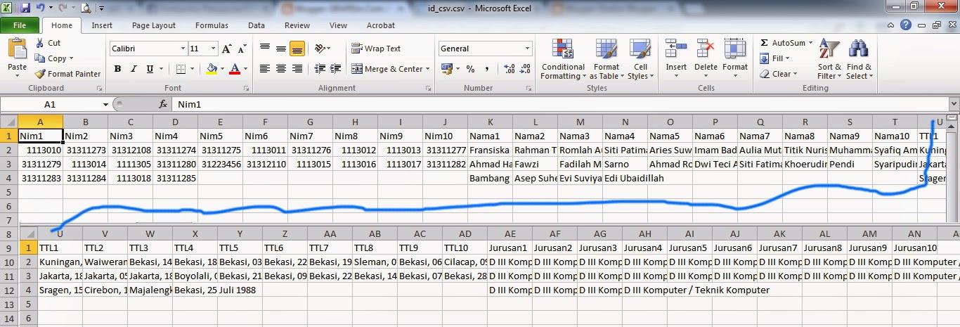Format Data ID Card Otomatis CorelDraw di Excel