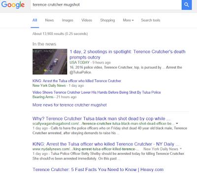 google hides Terence Crutcher mugshots