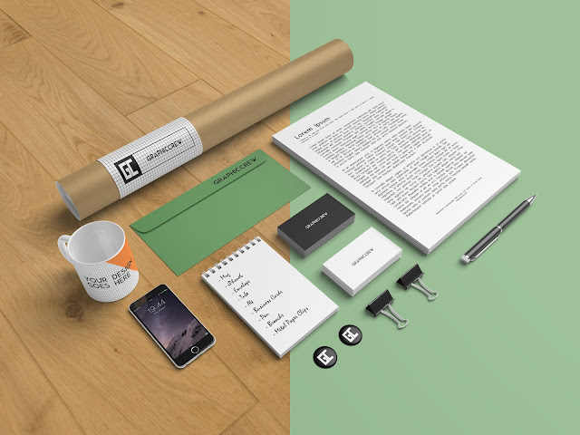 stationery branding mockups photoshop files