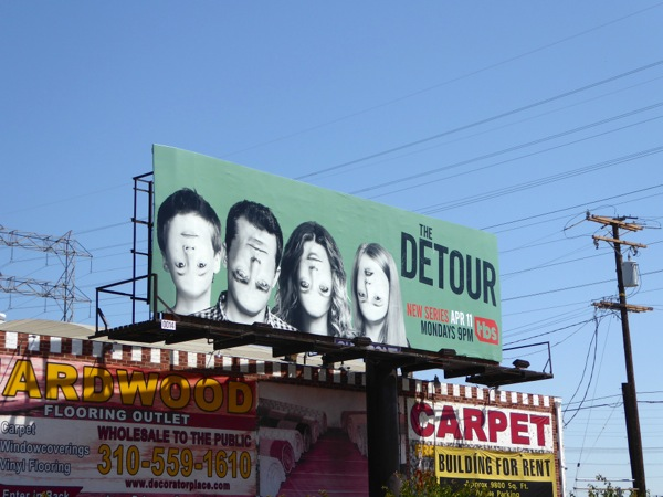 Detour series launch billboard