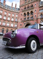 Purpple Car, St Pancras, malooka