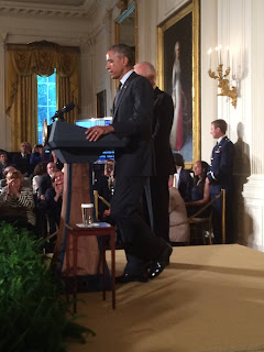 Pres. Obama Monday during a speech commemorating the 25th Anniversary of the ADA.
