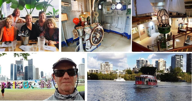 Catching up with the Qld Bloggers, checking out the Maritime Museum and riding the City Hopper Ferry.