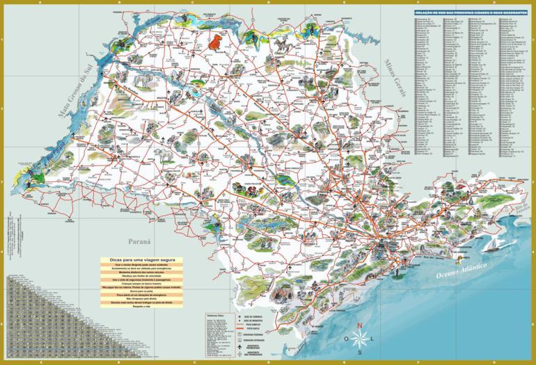 Mapas do Estado de São Paulo