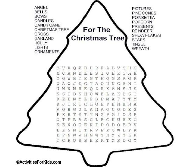5 Fun Christmas Word Search Printable For Kids