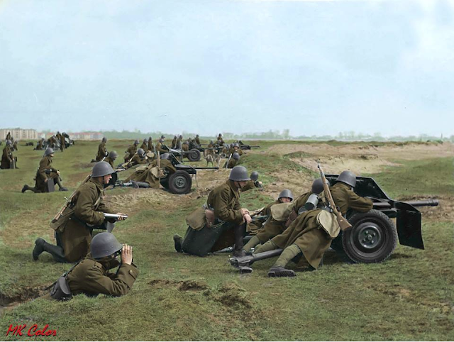 Polish troops during maneuvers, 1939 color photos of World War II worldwartwo.filminspector.com