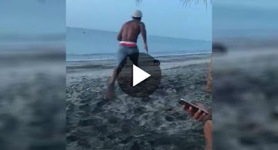 Young Man Attempts To Kick Stray Dog At Beach And Gets Dose Of Instant Karma