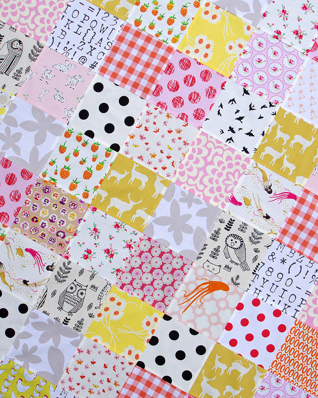 Custom Order Baby Girl Quilt | © Red Pepper Quilts 2016